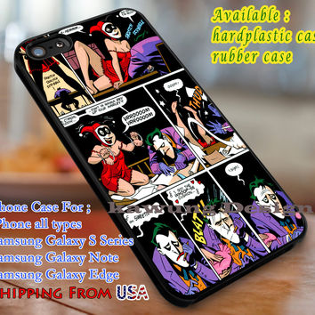 J & Quinn Joker Harley Quinn iPhone 6s 6 6s+ 6plus Cases Samsung Galaxy s5 s6 Edge+ NOTE 5 4 3 #cartoon #superheroes dl3