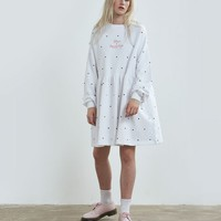 Lazy Oaf White Puppies and Kittens Sweater Dress