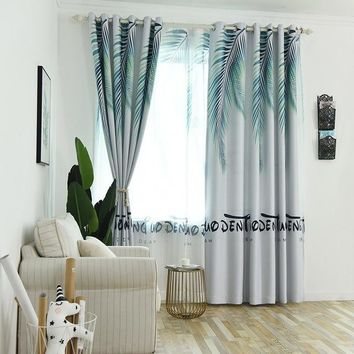 Modern Blue Blackout Curtains For Living Room The Bedroom Curtain For Window Treatment Drapes High Shade Panel Cortina Para Sala