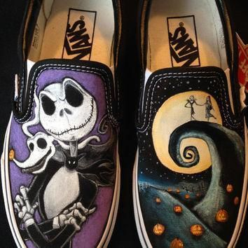 disney s nightmare before christmas hand painted vans toms converse