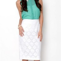 Insight Floral Pattern Lace Skirt - Insight Apparel for Her - Modnique.com