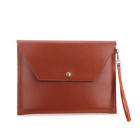 Brown Large Envelope Clutch Bag For Ipad