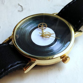 Skeleton Watch, Vintage Watch Gears, Mens watch, Moon Sun watch, Russian watch, minimalist watch, Gold watch , soviet watch