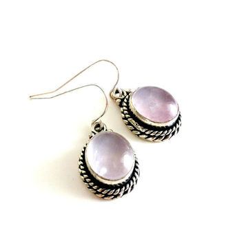 Lilac Rose Quartz Earrings