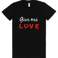 give me love-Female Black T-Shirt