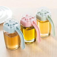 WOFO 350ML Glass Jug Leakproof Oil Tank Vinegar Pot Soy Sauce Oil Bottle Vinegar Bottles Sesame Oil Bottle Kitchen Supplies