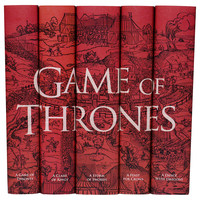 Game of Thrones Books, Set of 5, Fiction Books