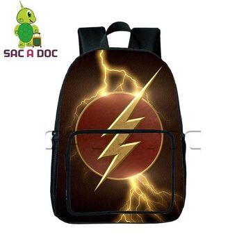 Girls bookbag  Hero The Flash Backpack Children School Bags Daily Backpack Teens Boys Girls Justice League School Bags Gift Bookbag AT_52_3