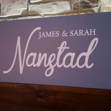 Rustic Personalized Wood Monogram Sign-Family Nanstad Style