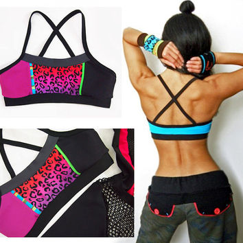 Tie Dye Dance Crisscross Scoop Sports Bra