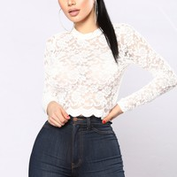 Kacey Lace Top - Ivory