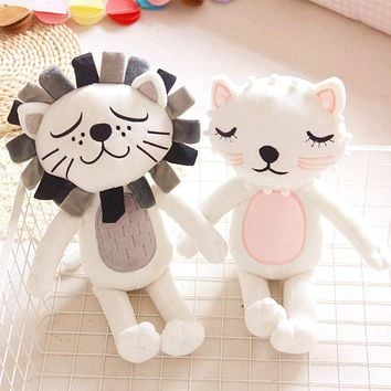 40cm Kawaii Plush Cat Lion Doll Toys For Children Room Decor Stuffed Plush Toys Kids Baby Appease Doll Girls Boys Christmas Gift