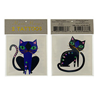 TEMPORARY TATTOO, cat, metallic tattoo fake tattoo, party favor