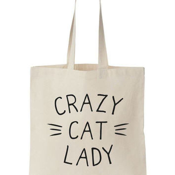 Crazy Cat Lady Canvas Tote Bag