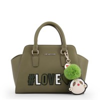 Love Moschino Green Leather Handbag