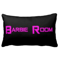 Black and Pink Barbie Room Fashion Decor Pillow