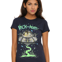Rick And Morty Spaceship Girls T-Shirt