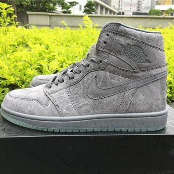 ONETOW KAWS x Air Jordan 1?¡ãCool Grey Men Basketball Sneaker size 40-46