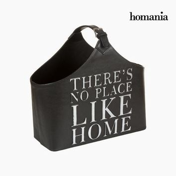 Magazine rack black belt color by Homania