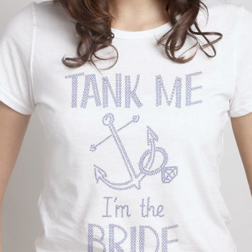 Tank The Bride Anchor Rhinestone Shirt