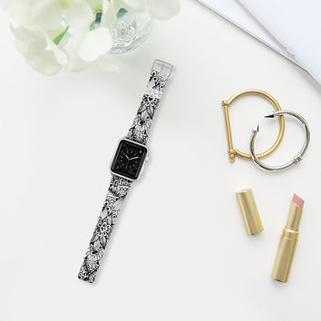 black and white Apple Watch Band (38mm) by Julia Grifol Diseñadora Modas-grafica | Casetify