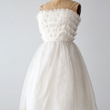 SALE vintage 60s Saks Fifth Avenue white wedding dress