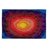Raven Jumpo Tie Die Madness Woven Rug