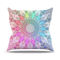 "Monika Strigel ""Rainbow Dots"" Throw Pillow"