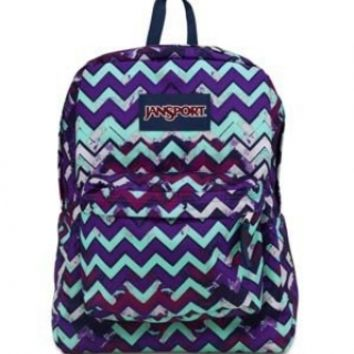 JanSport Superbreak® Backpack Purple Night Ziggy Stripe One Size