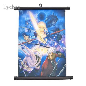 Lychee Japan Anime Scroll Painting Home Decoration Wall Picture Poster Fairy Tail Axis Powers Re0 Rem Kamisama Love Haikyuu!!