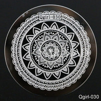 Full Flower Nail Art Stamp Template Lace Image Plate Mandala Stamping Plate Nail Stamp Tool #Qgirl-030