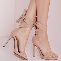 Missguided - Ankle Tie Heeled Sandals Nude