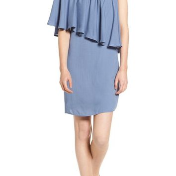 Ella Moss One-Shoulder Cotton & Silk Dress | Nordstrom