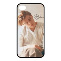 Popular American Actor Leonardo Dicaprio Custom Rubber Case Design Perfect Appearance for iPhone 4 4S Release