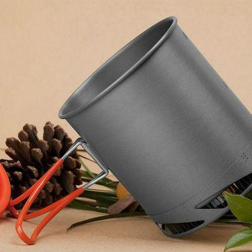 ICIKJG2 Fire Maple Outdoor Camping Picnic Pot, Portable Heat Collecting Exchanger Pot,  Anodized Aluminum Cookware Cup FMC-XK6 1L 190g