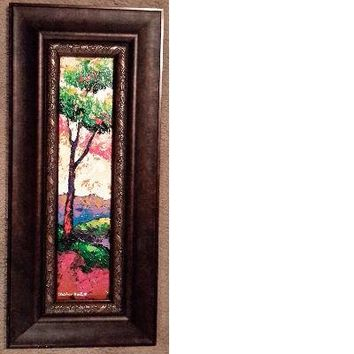 New Day #49 Acrylic Paint on Wood Framed Art Original