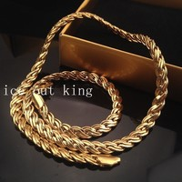Jewelry New Arrival Gift Stylish Shiny Alloy Hip-hop Twisted Necklace [6542739075]