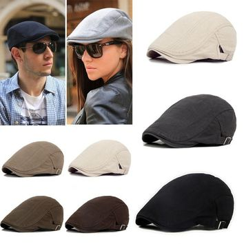 Men's Ivy Hat Berets Cap Golf Driving Sun Flat Cabbie Newsboy Cap-Fashion