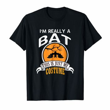 Bat Halloween Costume T-shirt This Is Just My Costume