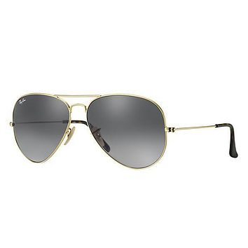 Ray Ban Aviator Sunglass Gold Dark Green RB 3025 181