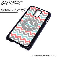 Chevron Tiffany Blue Coral Type Your Name Case For Samsung Galaxy S5 Case
