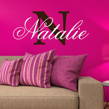 Personalized Custom Name And Initial Vinyl Wall Decal Sticker