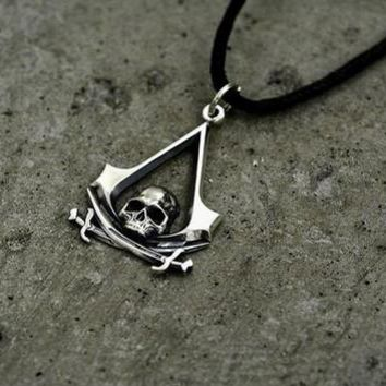 Assassins Creed Skull Pirate Necklace