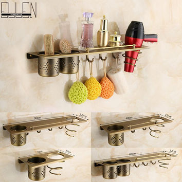 Bathroom Accessories Antique Bronze Hair Dryer Holder Tumbler Holder Bath Towel Holder Hanger