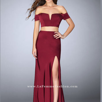 La Femme 23963 Off The Shoulder Formal Prom Dress