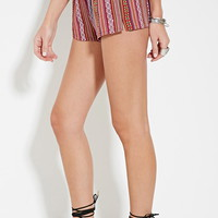 Geo-Striped Shorts | Forever 21 - 2000150951