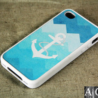 Cute Anchor iPhone 4 iPhone 4S Case, Rubber Material Case
