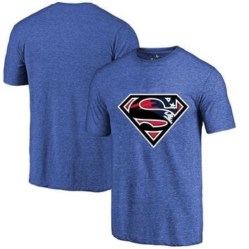 High Quality Fashion Men's Patriots Fans T-Shirt, New England Tees Superman S Logo Picture Printing Classical O-neck T Shirts new england patriots