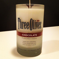 Hand Poured Soy Candle in Cut Three Olives Chocolate by Rehabulous