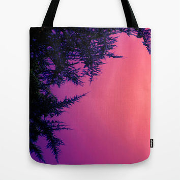 Peach, Pink, Purple Tote Bag by DuckyB (Brandi)